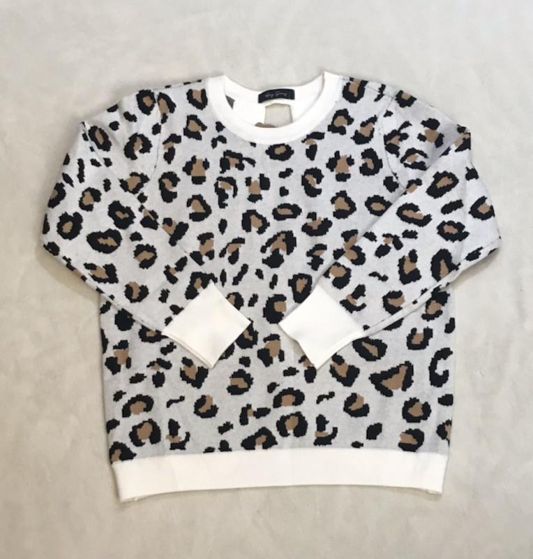 Cheetah Open Back Sweater