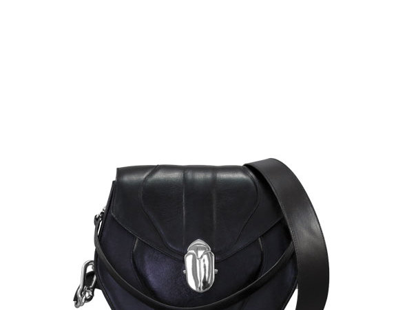 K012 Black Saddle Bag