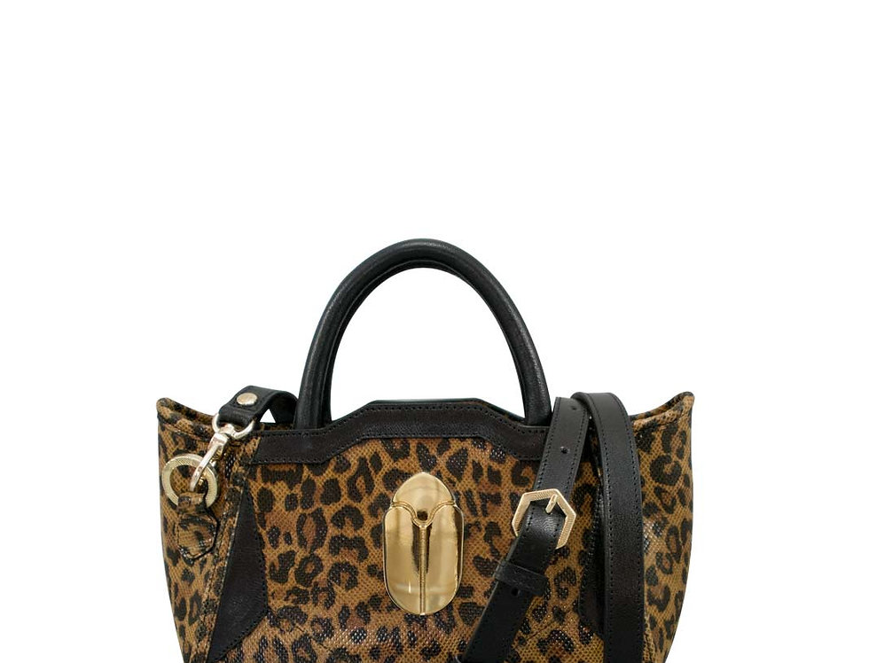 K010 Mini Tote Bag Leopard