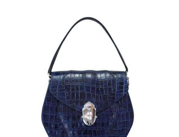 K012 Blue Coco Saddle Bag