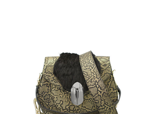 K012 Saddle Bag Leather & Fur