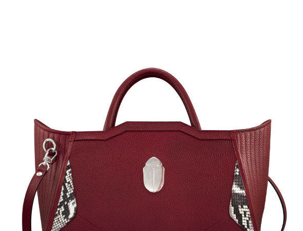 K010 Red Leather Tote Bag