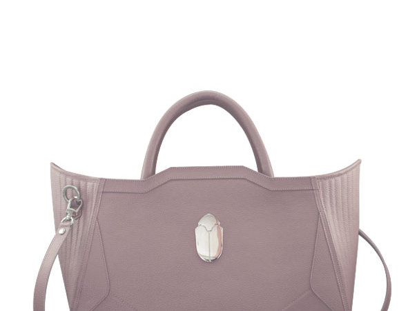 K010 Pink Leather Tote Bag