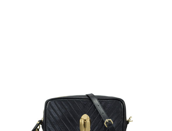 K017 Black Crossbody Clutch