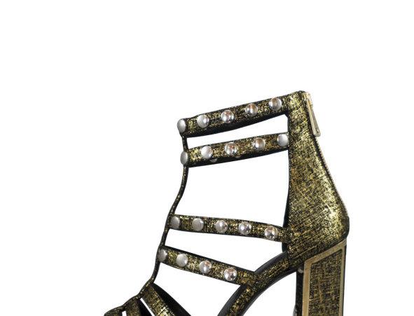 V02 Sandalia Golden Leather