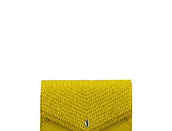 K08 Yellow Shoulder Bag Capitonada
