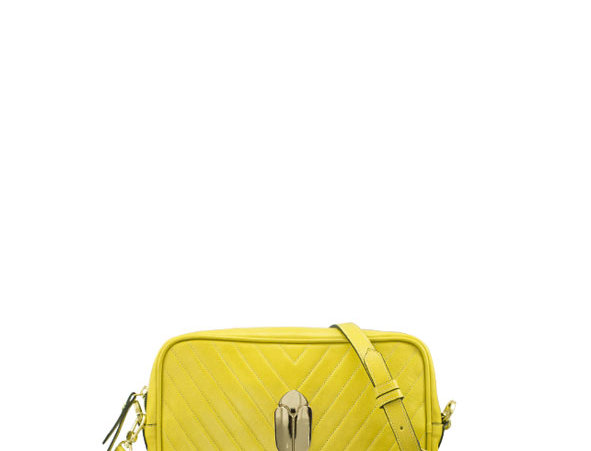 K017 Yellow Crossbody Clutch