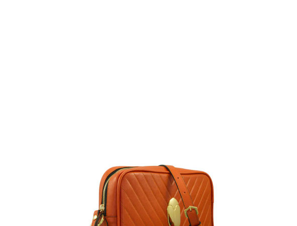 K017 Orange Crossbody Clutch
