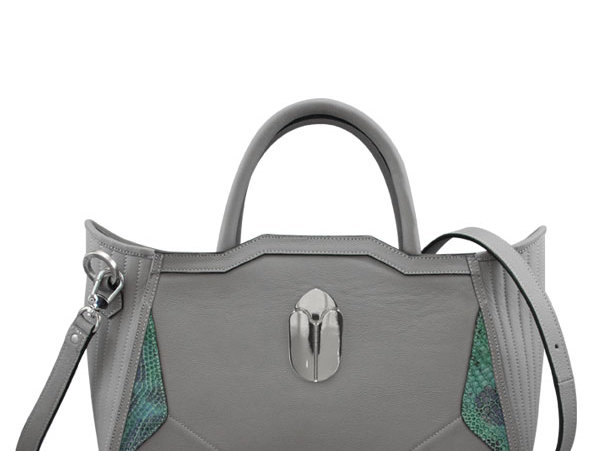 K010 Tote Bag Gray Leather