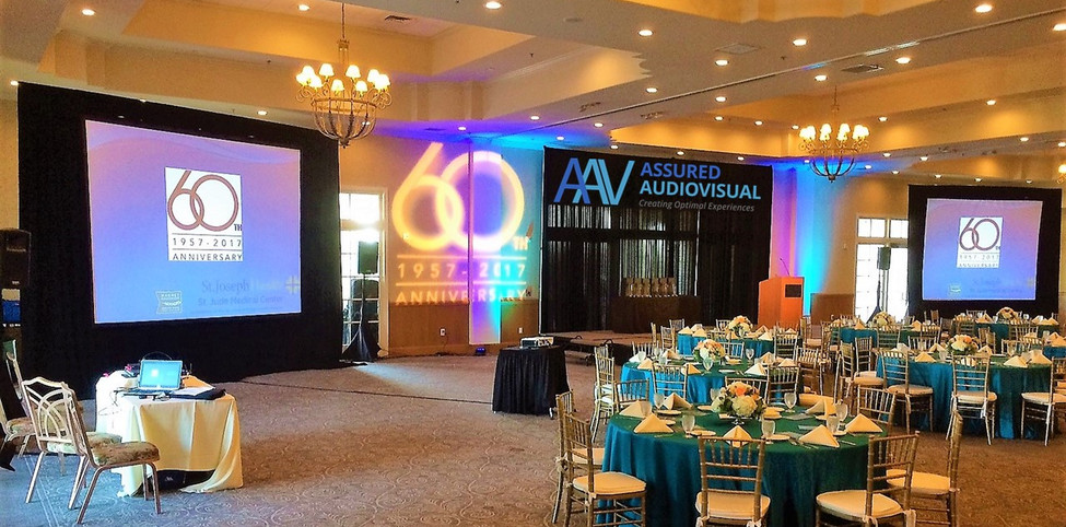 Double Projection Screen and Audio Setup