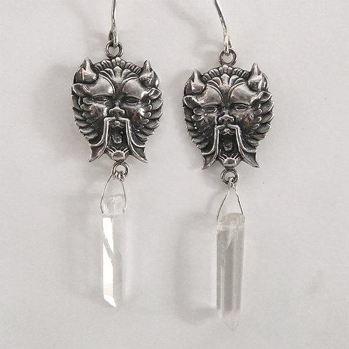 Screamin Demon Crystal Earrings