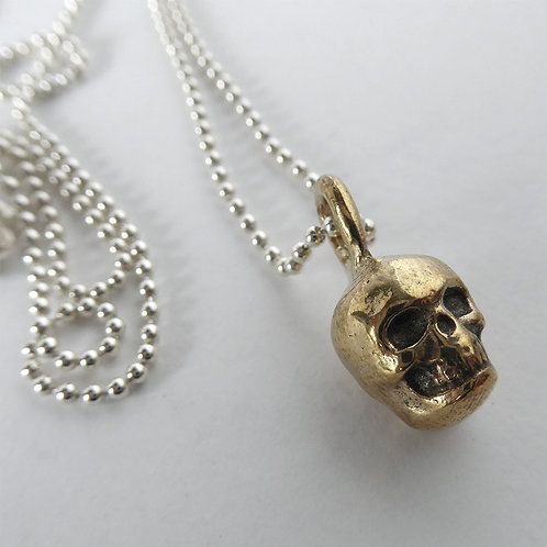 Lil Skull Necklace - Brass