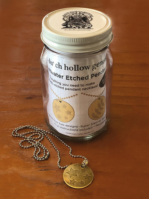 Saltwater Etched Pendant Kit
