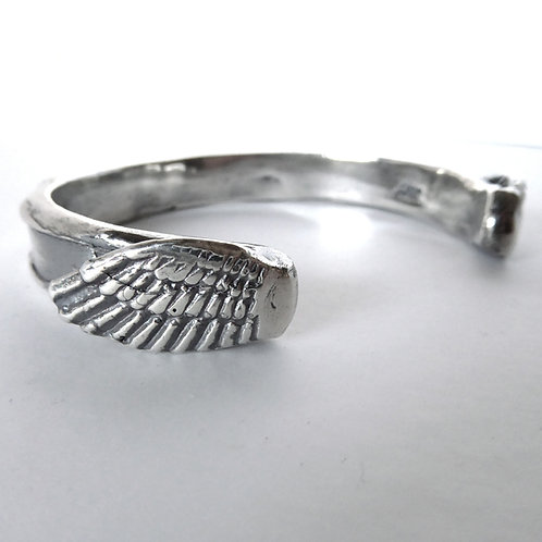 Wing Cuff in Sterling Silver