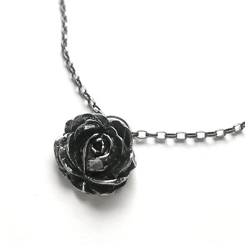 Evening Rose Necklace in Sterling Silver
