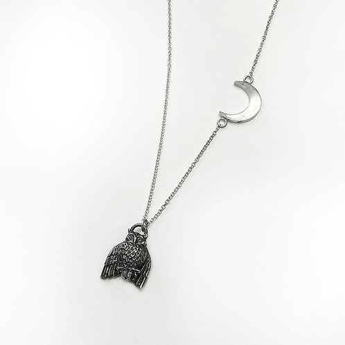 Night Owl Necklace in Sterling Silver