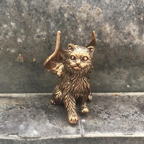 """Winged Cat Familiar Pendant """"Ammon"""""""