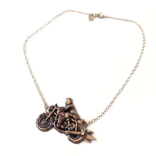 Motorcycle Mama Necklace in Bronze