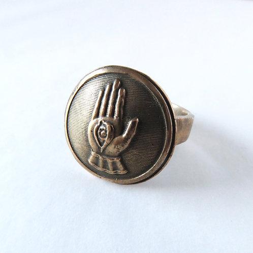 Eye Amulet Ring in Bronze