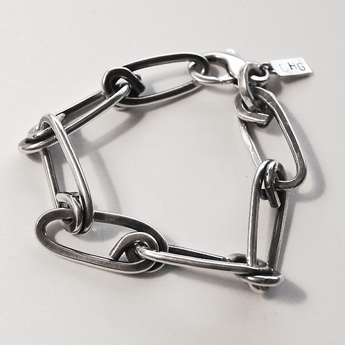 Heavy Hunter Bracelet - Sterling Silver
