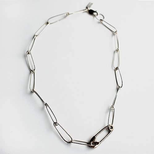 Hunter Pin Necklace - Bronze/ Sterling Silver