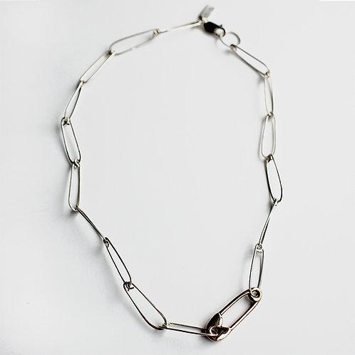 Hunter Pin Choker - Bronze/ Sterling Silver