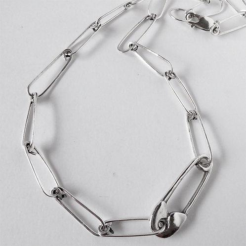 Hunter Pin Choker - Sterling Silver
