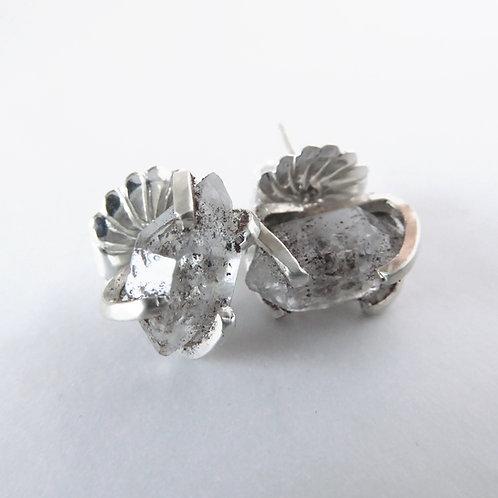 DHG Herkimer Diamond Stud Earrings