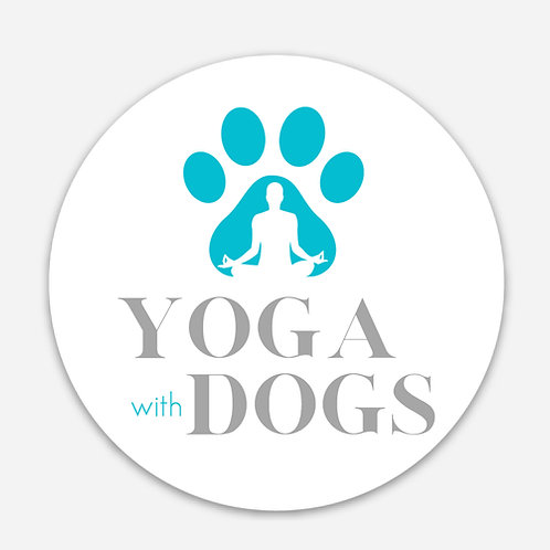 Yoga with Dogs Sticker