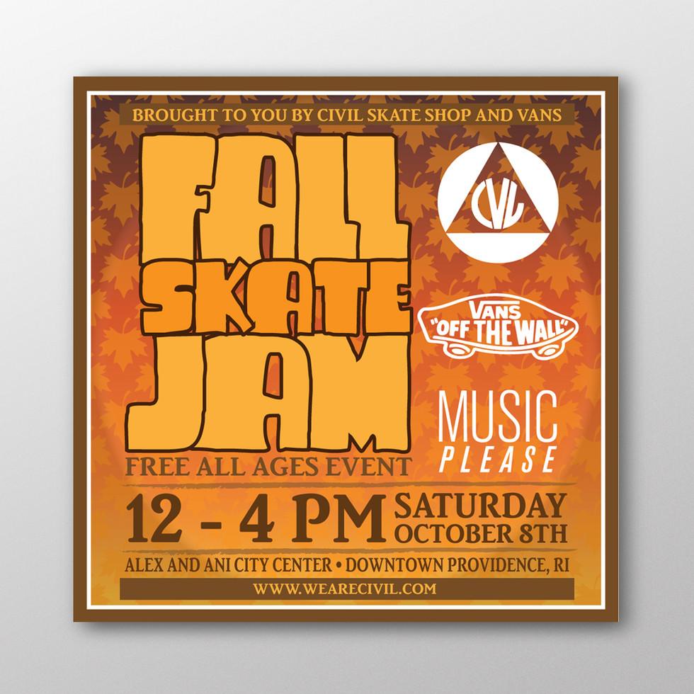 Civil Fall Jam Flyer