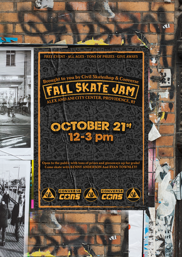 Fall Skat Jam Poster