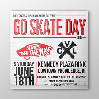 Civil Go Skate Day Flyer