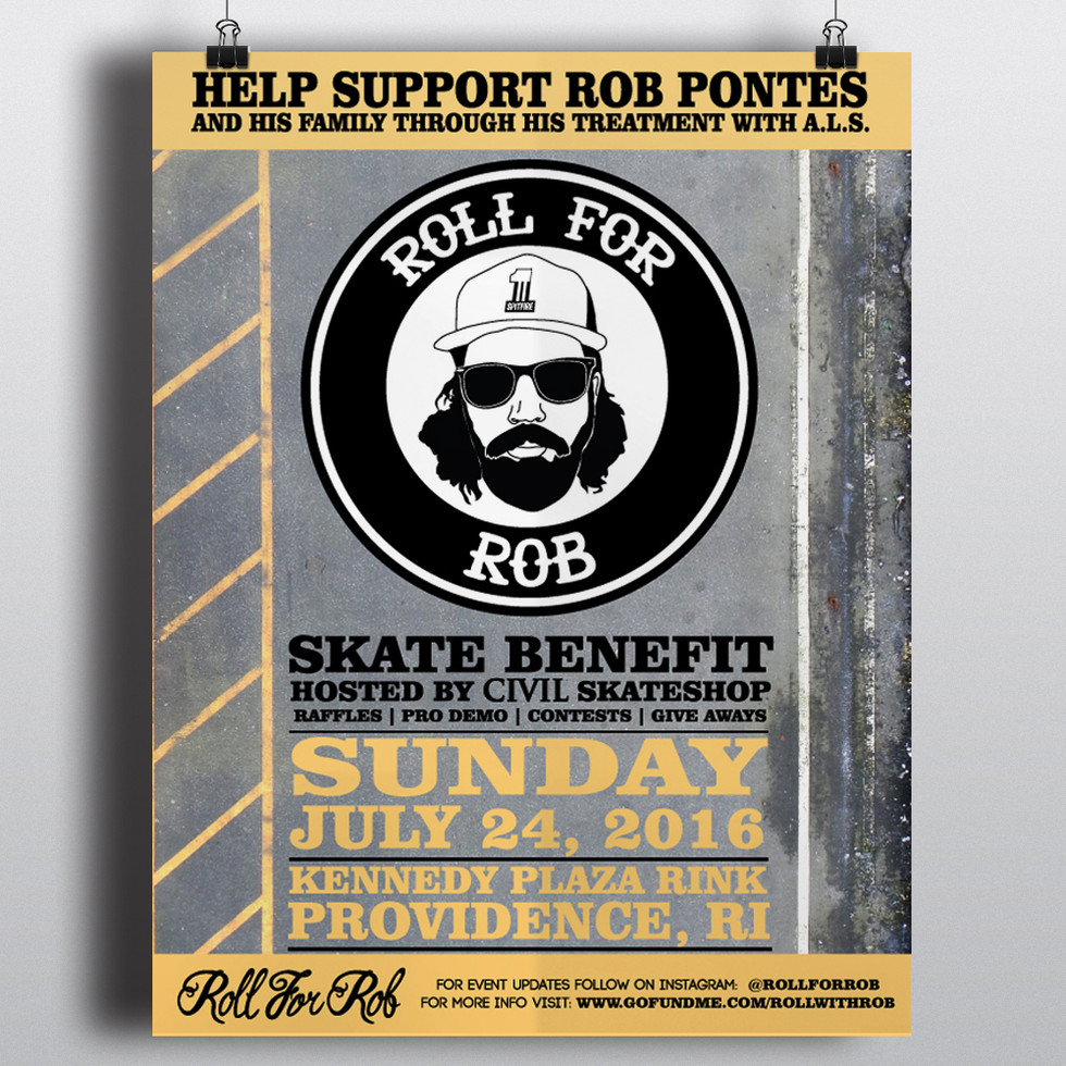 Roll For Rob Event Poster