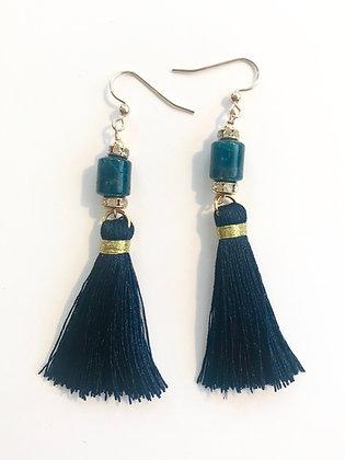 Navy Blue Apatite Tassels