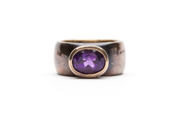 Amethyst and brass