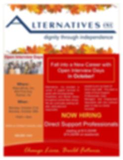 Job Fair - Raritan October Open Int Days
