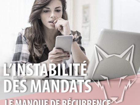 L'INSTABILITÉ/LE MANQUE DE RÉCURRENCE 🤷♀️