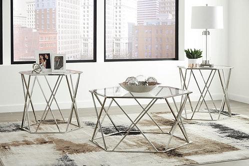 Madanere 3 Piece Coffee/End Table Set