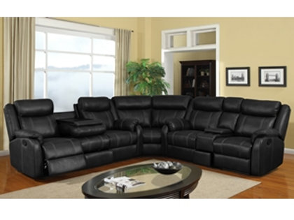 Rummy Black Motion Sectional