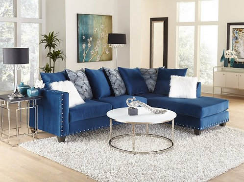 Sapphire Sectional and Pillows