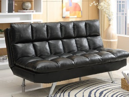 Sundown Black Adjustable Sofa Bed