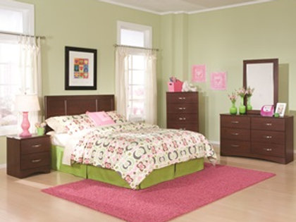 Briar Cherry Full/Queen Bedroom Group