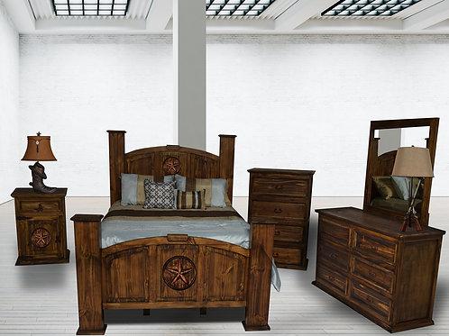 Mansion Antique W/Star King Bedroom Group