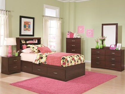 Briar Cherry Captain's Twin Bedroom Group