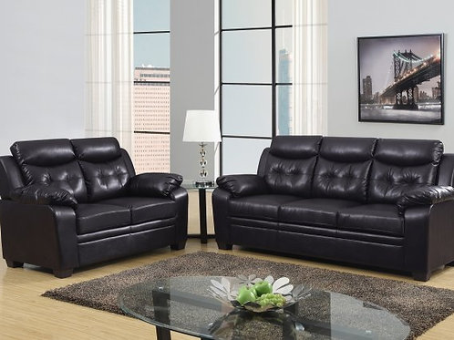 Expresso Bonded Leather Sofa Love set