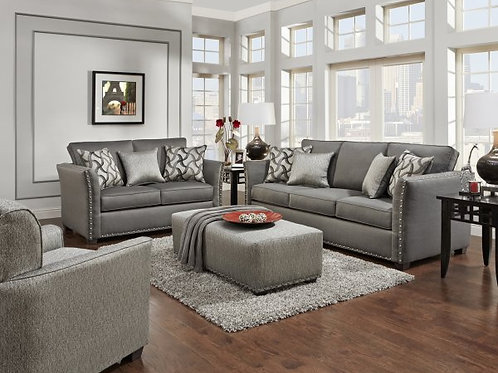 Technique Charcoal Sofa and Love seat set