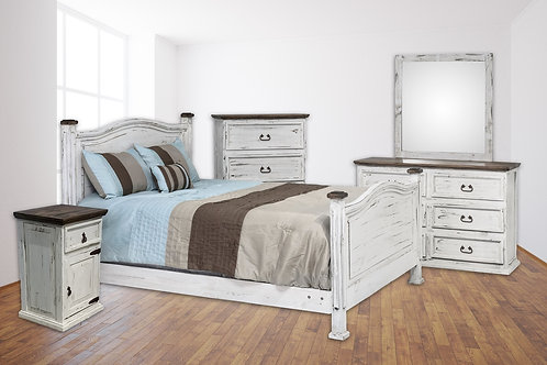 Promo White Queen Bedroom Group