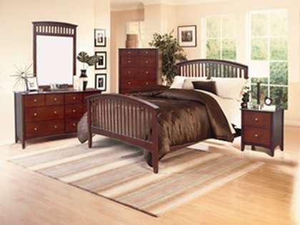 Lawson Cherry Queen Bed Only