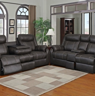 Rummy Charcoal Motion Sofa Love
