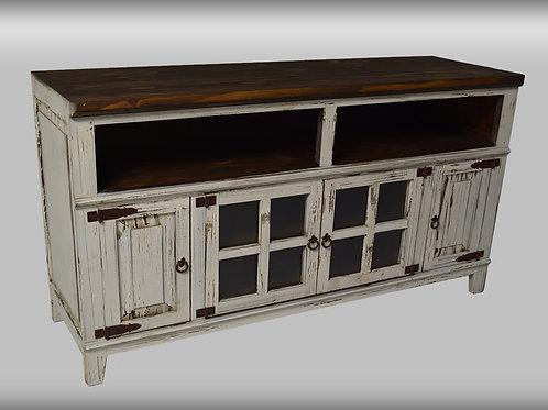 "Antique White Hacienda 72"" TV Stand"